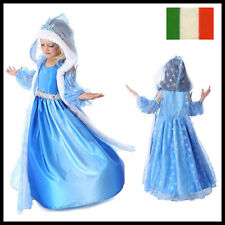 CARNEVALE COSTUME FROZEN dress bambina ELSA VESTITO BIMBA TRAVESTIMENTO new 2016
