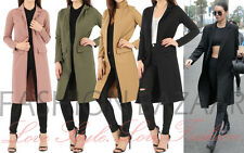 Womens Longline Duster Jacket Open Front Duster Coat Smart Modest Long Jacket