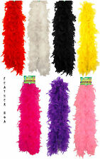 SOFT BURLESQUE FEATHER BOA SHOWGIRL DANCE FANCY DRESS HEN NIGHT RED BLACK WHITE
