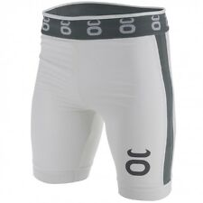 Tenacity Jaco Vale Tudo Compression Long Fight Shorts White MMA UFC No Gi