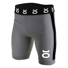 Tenacity Jaco Vale Tudo Compression Long Fight Shorts Grey MMA UFC No Gi