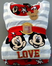 NEU DiSNEY ❤️ MiCKEY MiNNiE MOUSE FLEECE PYJAMA SCHLAFANZUG XS S M L XL PRIMARK