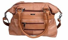 LADIES GENUINE LEATHER LARGE TOTE SHOULDER  & FASHION BAG WITH DETACHABLE STRAP
