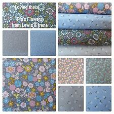 Ditsy & Chintz Floral Fabrics Lewis & Irene 100% Cotton Quilting / Craft Fabric