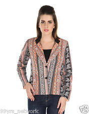 LEMON DESI Multicolor Animal Print Cotton Polyster Quilted Jacket For Girl's