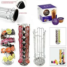 Revolving Rotating 24 32 Capsule Coffee Pod Holder Tower Stand Rack Dolce Gusto