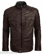 ADARGA 100% Genuine Lambskin Leather Jacket Designer stylish Biker Blazer Men's