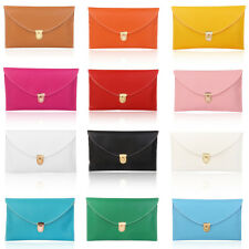 Fashion Ladies Girls Envelope Clutch Purse Bag w/ Chain Handheld/Shoulder Bag