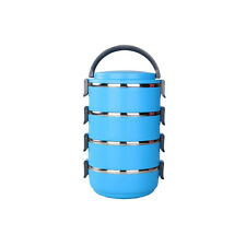 Round Bento Picnic Kitchen Food Container Thermal Insulated Lunch Box Multi