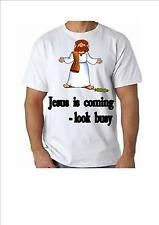 Jesus is Coming - Look Busy T Shirt 100% Cotton great for Fun and Events