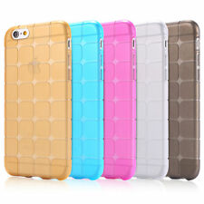 TPU/Rubber IceCube Design Transparent Back Cover for Apple iPhone 4/4S