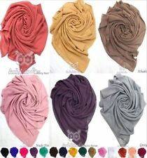 Larger Maxi Top Quality *Chiffon* Plain Scarf Hijab Sarong Large Headscarf Silk