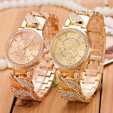 New Fashion Womens  Watches Crystal Bling Stainless Steel Quartz Wrist Watch Lot