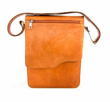 large Classic Italian Gentleman shoulder messenger bag 100% leather