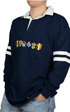 Six Nations Mens Long Sleeve Rugby Top T-Shirt Navy All Sizes S-XXXL