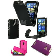 Premium Leather style Flip Pouch Cover Case for Nokia & Sony mobile phone models