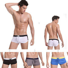 Men's Drawstring Lounge Jogging Sports Athletic Boxer Shorts Swim Trunks