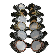 Steampunk Cyber Safety Padded Goggles Glasses for Welding Cosplay Fancy Dress