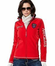 Nebulus Womens L & XL Styler Softshell Red Offshore Windproof Jacket Coat NEW