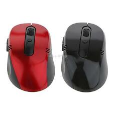 2,4 GHz USB Mouse Gaming Ottico Wireless Per Laptop PC Portatile - Rosso / Nero