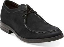 BRAND NEW CLARKS DELSIN RISE SUEDE LEATHER OXFORD SHOES BROWN/BLACK SZS 8.5