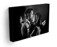 BANKSY MOBILE PHONE LOVER CANVAS ART PRINT