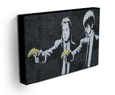 BANKSY PULP FICTION BANANA CANVAS ART PRINT