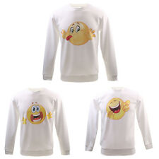 Trendy Print Emoji Jumper Top Unisex Adults Casual Pullover
