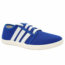 Blue Canvas Casual Sneakers Shoes For Men
