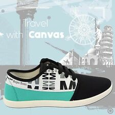 Black Green Canvas Loafers Casual Sneakers Shoes for Men