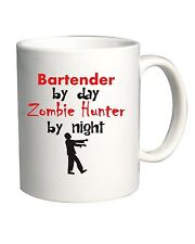 Tazza 11oz BEER0167 Bartender By Day Zombie Hunter By Night