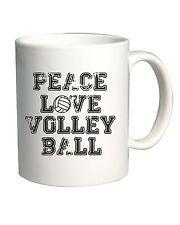 Tazza 11oz OLDENG00208 peace love volleyball