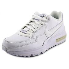 Nike Air Max LTD Men  Round Toe Leather White Sneakers