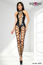 seXy Wetlook Overalls Laces Erotic Strip Fetish Dominatrix Catsuit XS-XL