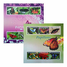 Orchid/Butterflies 2015/2016 Stamps 6 value perf.&imperf. Sheetlets UKpost GIFT