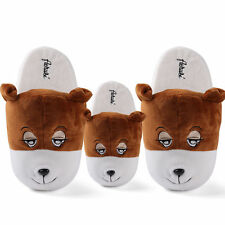 Cute Animal Bear Women's Plush Slippers Warm Winter Home Shoes Indoor Slippers