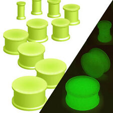 Flexible Silicone Brillant Double Flared Plug 3-25mm NEUF PIERCINGS by ALLFORYOU