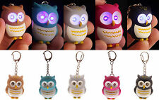 Cute Owl Keyring with LED Lights and Hooting Sound Novelty Key Rings Gift OWL24