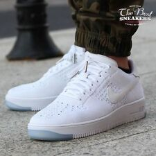 NIKE AIR FORCE 1 FLYKNIT LOW MENS 817419-100 WHITE ICE DOUBLE BOXED