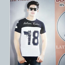 Printed TShirt For Mens Wear, Half Sleeves Round Neck Cotton Fabric T-Shirt
