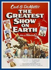 The Greatest Show On Earth   1950's Movie Posters Classic And Vintage Cinema