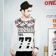 Printed Mens Wear TShirt, Full Sleeves, Round Neck T-Shirt For Mens/Boys