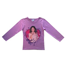 Tee shirt manches longues Violetta Music love rose
