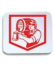Tappetino Mouse Pad BEER0153 Barman Lifting Barrel Pouring Beer Mug Retro