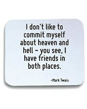 Tappetino Mouse Pad CIT0106 I don t like to commit myself about heaven and hell