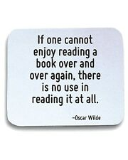Tappetino Mouse Pad CIT0118 If one cannot enjoy reading a book over and over aga