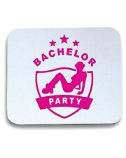 Tappetino Mouse Pad MAT0006 Bachelor Party Crest Maglietta