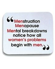 Tappetino Mouse Pad T0932 womens problems fun cool geek