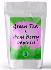 Acai Berry and Green Tea Extract 1:1 Complex 3500mg Capsules, Weight Loss, Diet