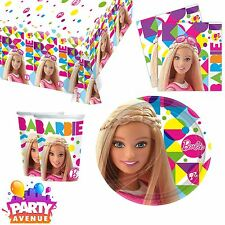 Barbie Birthday Party Tableware Napkins Cups Table Cover Plates